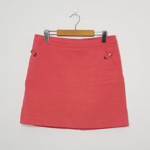 Mexx | Coral Mini Skirt Size 12 Stretch Pockets